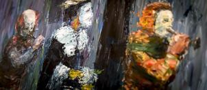 Schilderij van Milène Evers te zien in galerie Het Kruithuisje te Alkmaar
